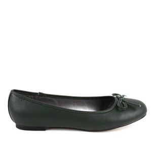 Vihreä keinonahka ballerina